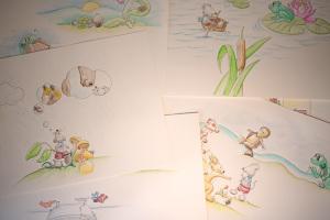 """Illustrationen für das Buch """"Mäuschen Max geht gern spazieren"""""""