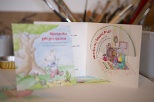 """CD-Cover für die CD """"Mäuschen Max bekommt Besuch"""""""